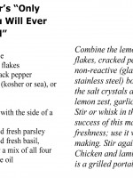 Seth Weiner's Marinade Recipe Card
